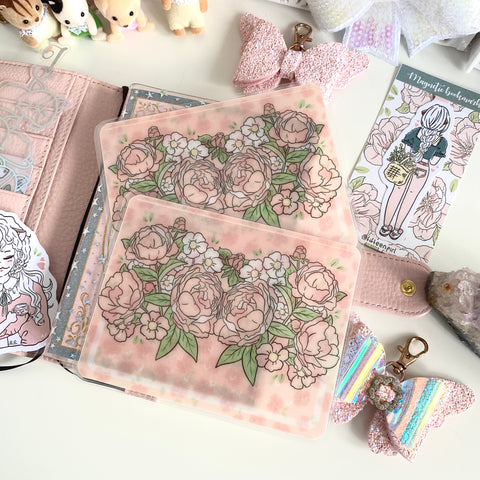 Floral sticker pocket