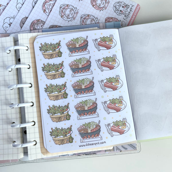 Food Foxigirl Sticker book-LIMITED QUANTITIES