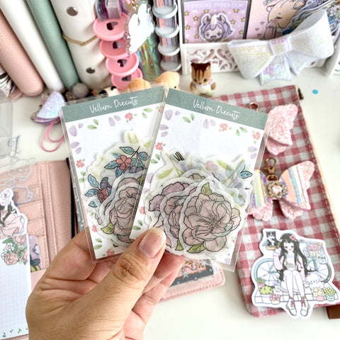 Flower vellum diecuts- NOT included in the Bundle
