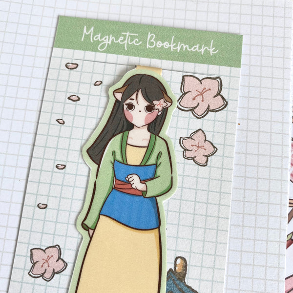 Mulan foxigirl magnetic bookmark-LIMITED QUANTITES