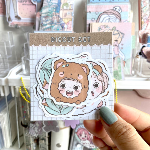 Bear-y cute foxigirl STICKER diecut set