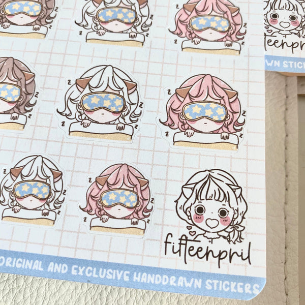 Sleeping Foxigirl sticker
