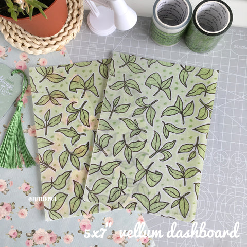 "Match leaves vellum dashboard-5x7""/B6"