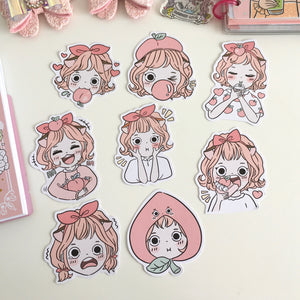 Peachy foxigirl LARGE diecut set