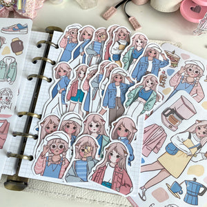 New style foxigirl sticker diecut set