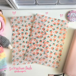 "Strawberry land vellum dashboard-5x7""/B6"