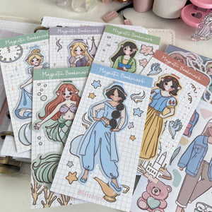 Princesses foxigirl magnetic bookmark set of five'LIMITED QUANTITES