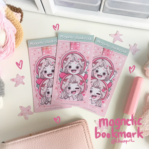 Strawberry land foxigirl magnetic bookmark-LIMITED QUANTITES ONLY