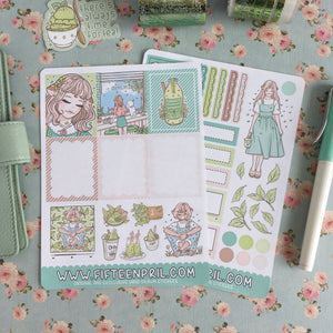 Matcha Cafe foxigirl PP weekly sticker kit
