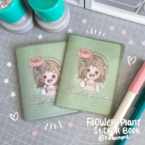 Flower/Plant Foxigirl Sticker book-LIMITED QUANTITIES