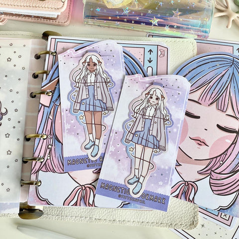 Starry sky foxigirl magnetic bookmark-LIMITED QUANTITES ONLY