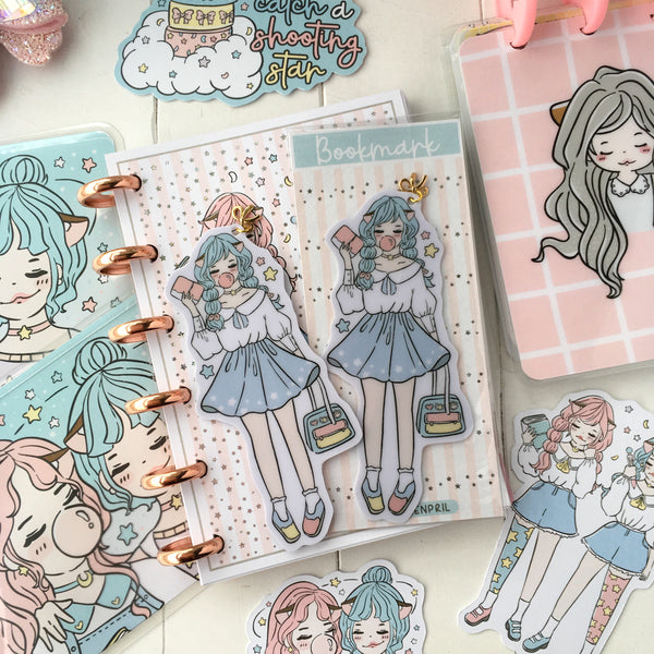NEW PRODUCT! Planner twin foxigirl Bookmark-LIMITED QUANTITIES ONLY!!