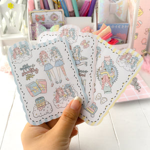 Twin planning foxigirl sticker set