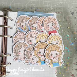 Happy foxigirl diecut set