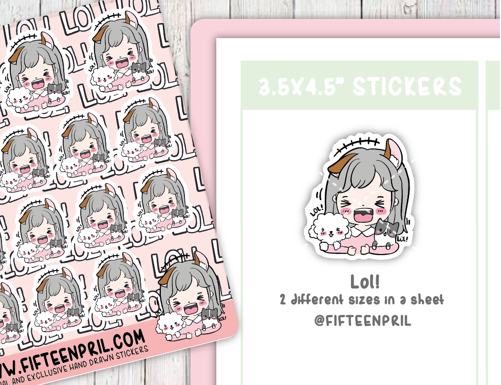 F098-Lol Foxigirl sticker