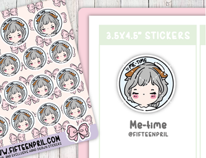 F086-Me time Foxigirl sticker