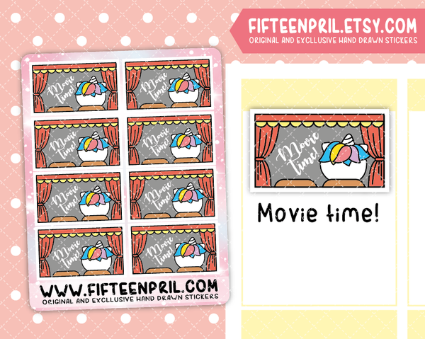 U044- Movie time Unikin stickers