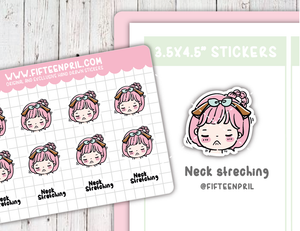 Neck Stretching sticker sheet- fits Micro hp