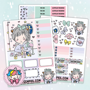 Planning foxigirl sticker kit
