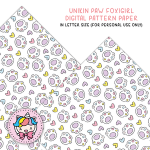 Unikin paw digital paper (digital files only)