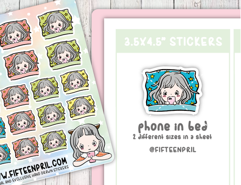 F012-Mobile phone Foxigirl sticker