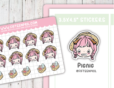 Picnic sticker sheet- fits Micro hp