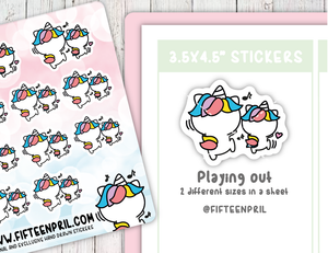 U013-Playing out Unikin stickers