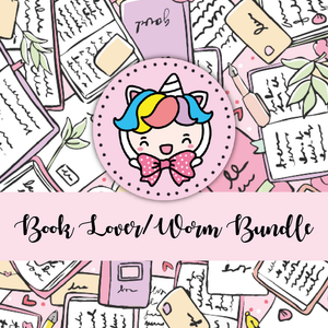 Book lover/ book worm themed Bundle-about 20% less! LIMITED Bundles only
