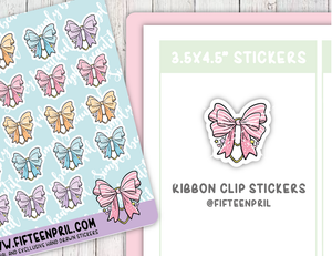 F084-Ribbon paper clip sticker