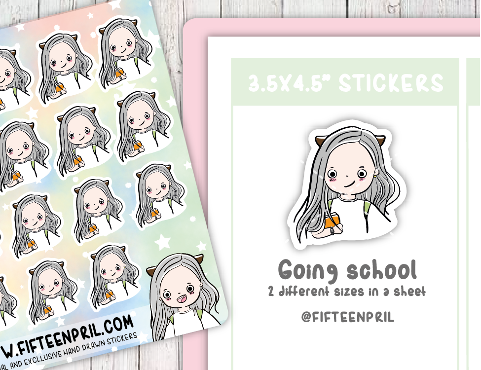 F008-School Foxigirl sticker