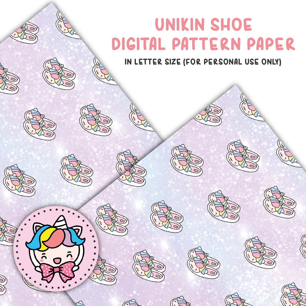 Unikin shoe digital paper (digital files only)