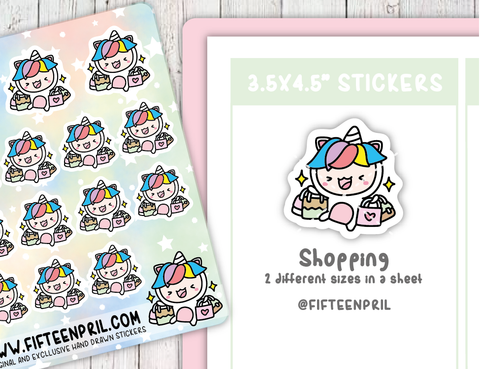 U036-Shopping Unikin stickers