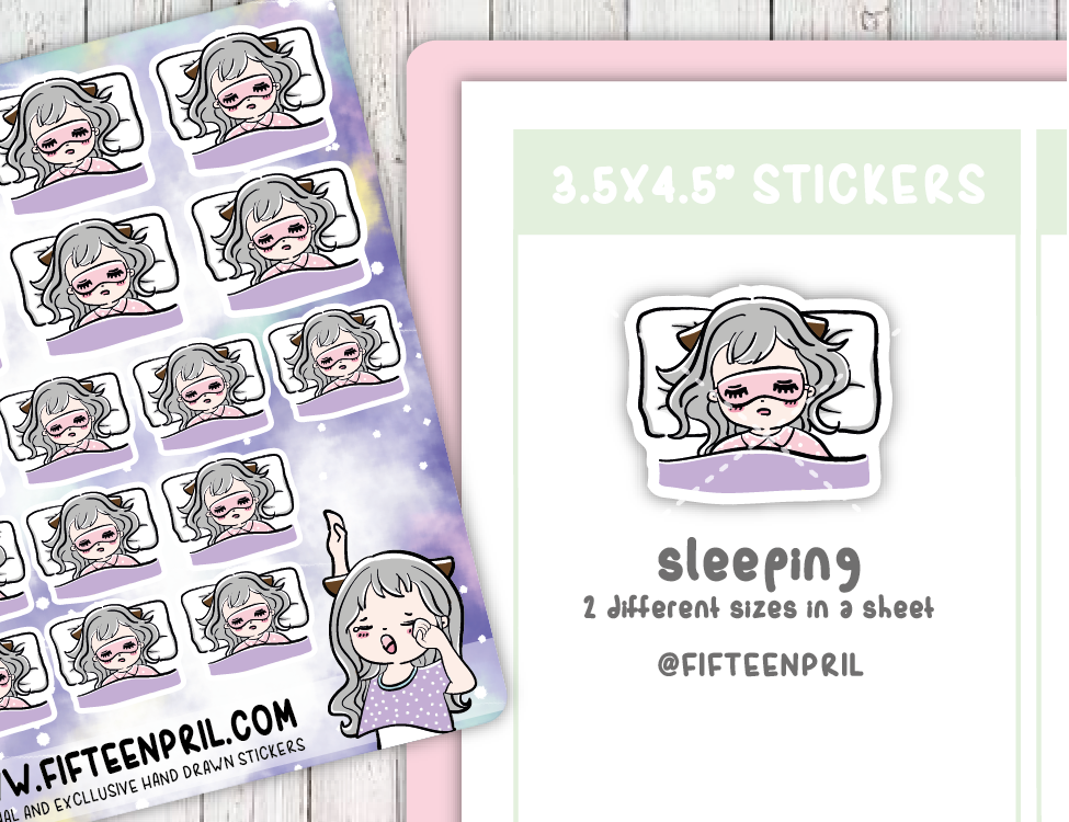 F013-Bed Time Foxigirl sticker