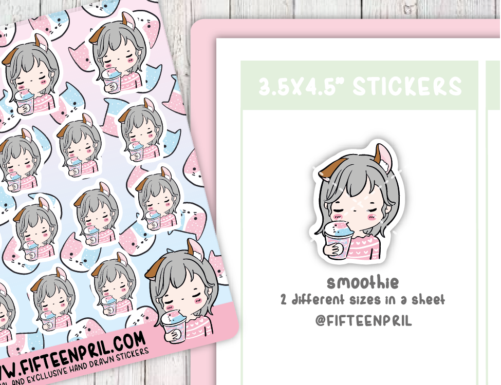 F092-Smoothie Foxigirl sticker