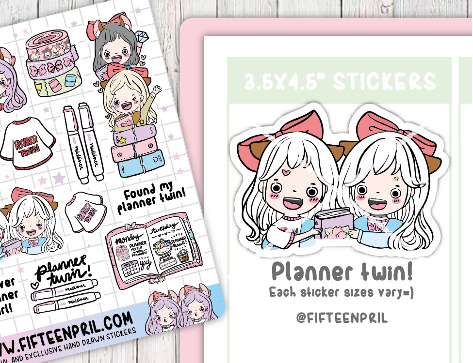 F065-Planner twin deco stickers