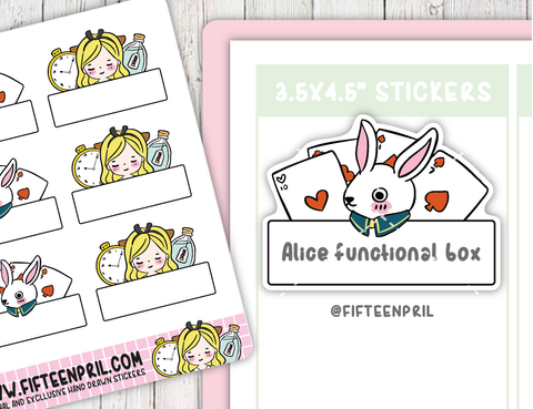 Alice foxigirl funtional sticker sheet
