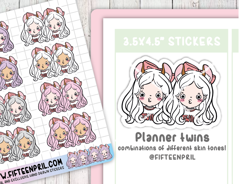 F065-Planner twins stickers