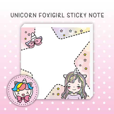 Unicorn foxigirl Sticky Notes