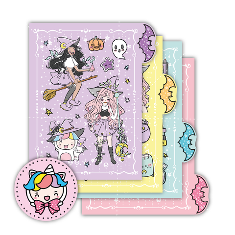 Halloween/witch foxigirl sticker set