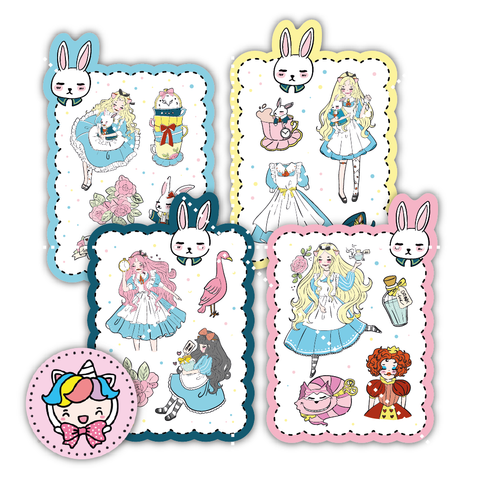 Alice inspired foxigirl sticker set