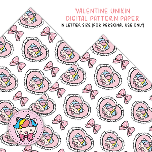 Valetine Unikin digital paper (digital files only)