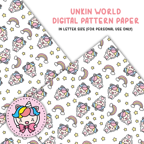 Unikin world digital paper (digital files only)
