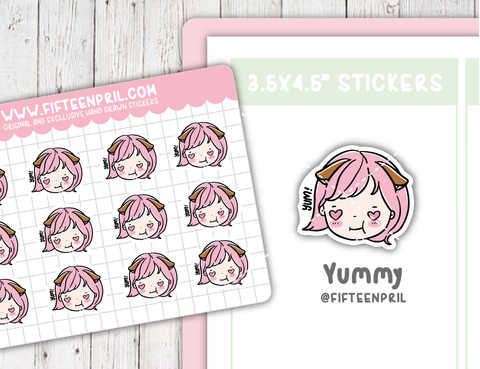 Yummy sticker sheet- fits Micro hp