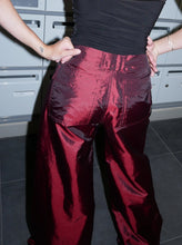 Load image into Gallery viewer, 90s metallic red pants