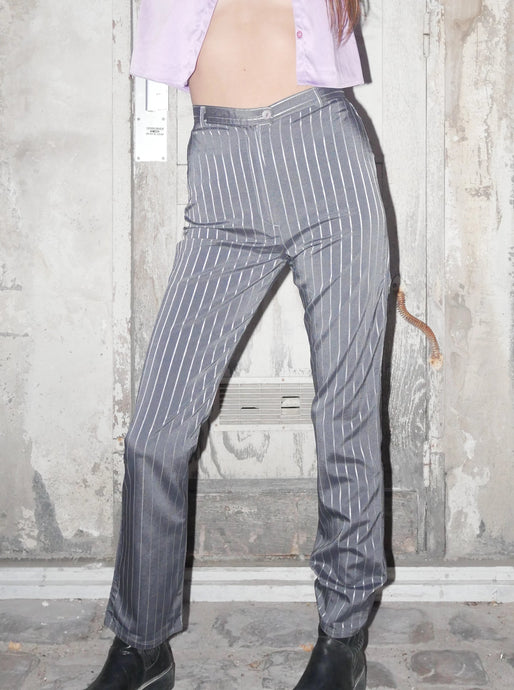 Striped metallic working pants