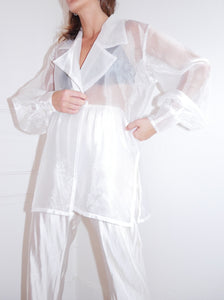 Organza white shirt