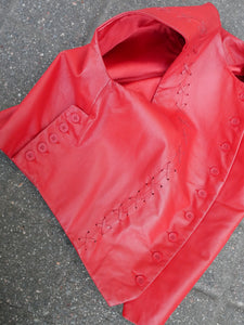 Vintage red leather vest