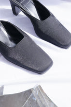 Load image into Gallery viewer, Metallic satin mules