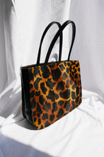 Load image into Gallery viewer, Leopard faux fur bag