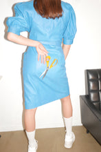 Load image into Gallery viewer, Blue leather dress